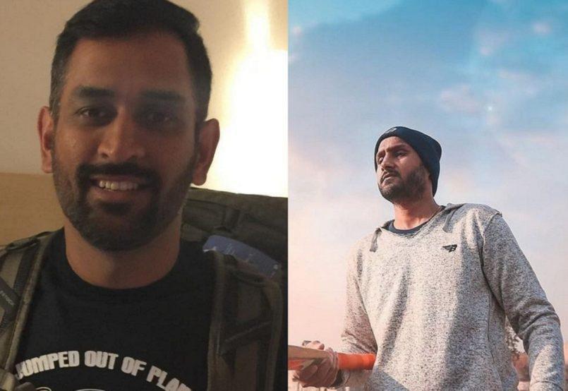 Dhoni and Harbhajan Singh