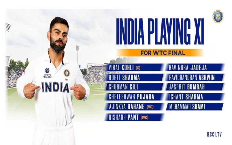 WTC final India Team
