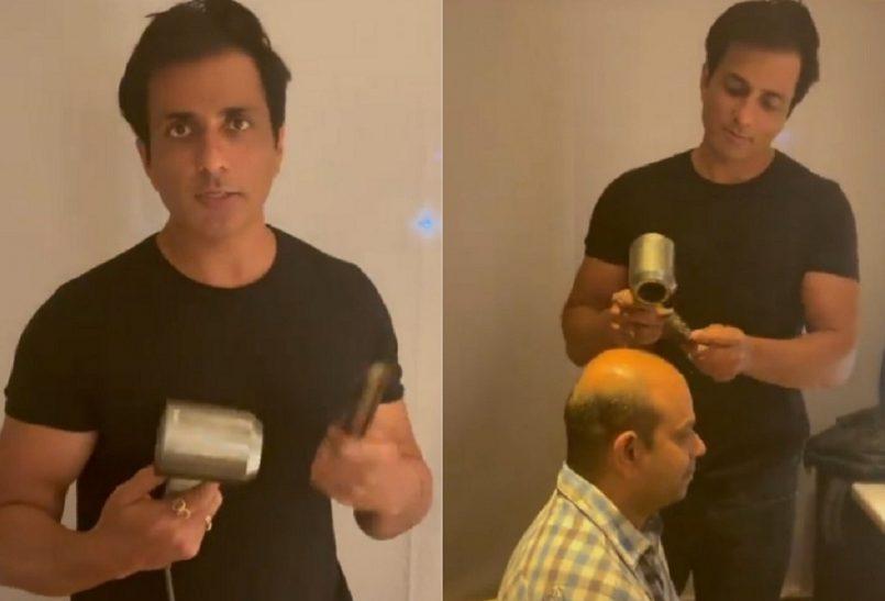 Sonu Sood Hair Cutting Vedio