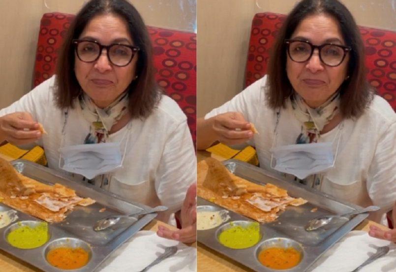 Neena Gupta Eating Dosa