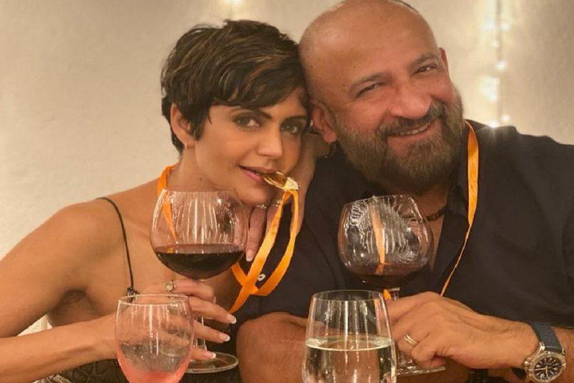 Mandira bedi with Husband