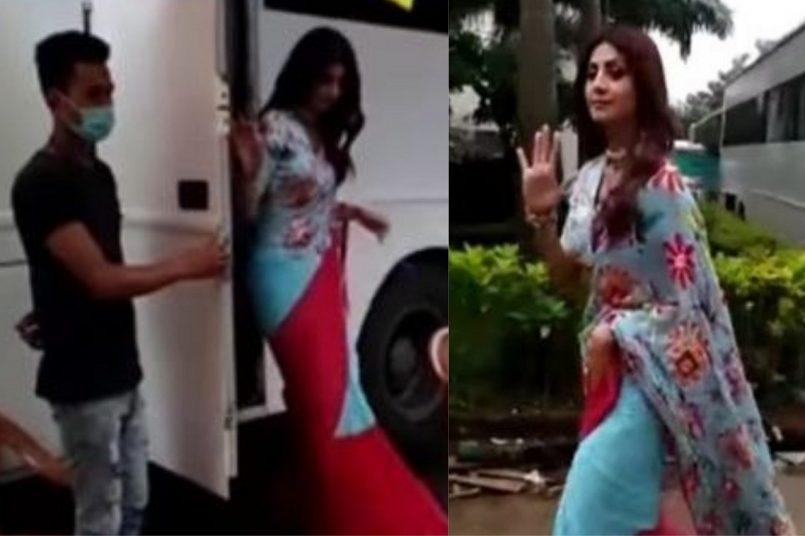 Shilpa Shetty on Superdancer set