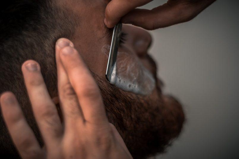Men shaving Banned