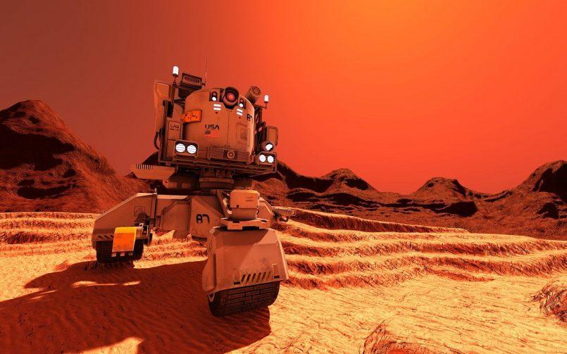 Mars planet image capture