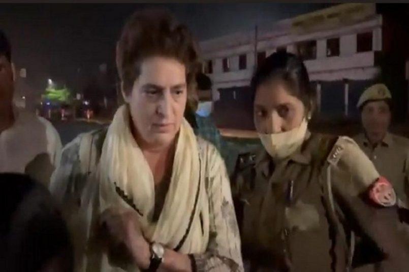 हिरासत में मरने वाले व्यक्ति के घर जाने के दौरान प्रियंका गांधी को किया गया गिरफ्तार, कांग्रेस ने जताया विरोध